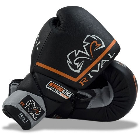 RIVAL GLOVES RS1 BOXING LACE BLACK/GREY - MSM FIGHT SHOPRIVAL BOXING