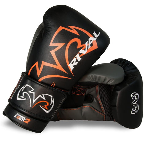 RIVAL GLOVES RS11V BOXING VELCRO BLACK/ORANGE - MSM FIGHT SHOPRIVAL BOXING