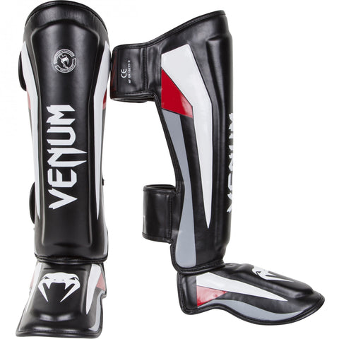 "Venum ""Elite"" Stand up Shinguards - Black/Red"
