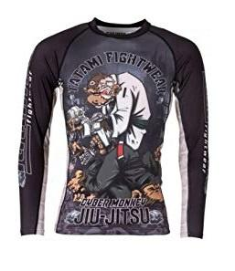 TATAMI RASHGUARD CYBER THINKER MONKEY L/S BLACK - MSM FIGHT SHOPTATAMI