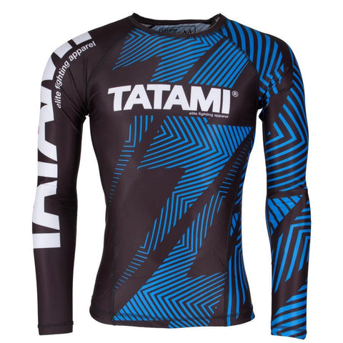 TATAMI RASHGUARD IBJJF NO GI L/S BLUE/BLACK - MSM FIGHT SHOPTATAMI