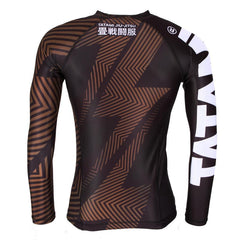 TATAMI RASHGUARD IBJJF NO GI L/S BROWN/BLACK - MSM FIGHT SHOPTATAMI