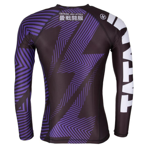 TATAMI RASHGUARD IBJJF NO GI L/S PURPLE/BLACK - MSM FIGHT SHOPTATAMI