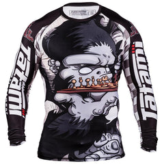 TATAMI RASHGUARD JIU JITSU CHESS GORILLA L/S BLACK/WHITE - MSM FIGHT SHOPTATAMI