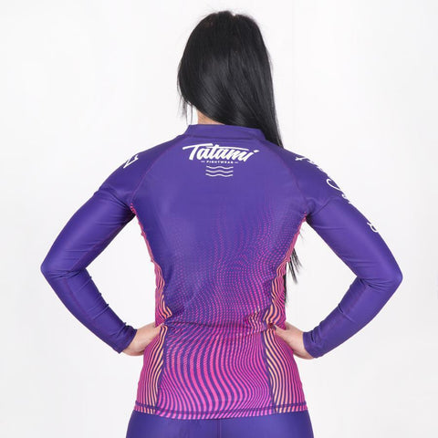 TATAMI RASHGUARD LADIES L/S SOUTH COAST JIU JITSU PURPLE/PINK - MSM FIGHT SHOPTATAMI