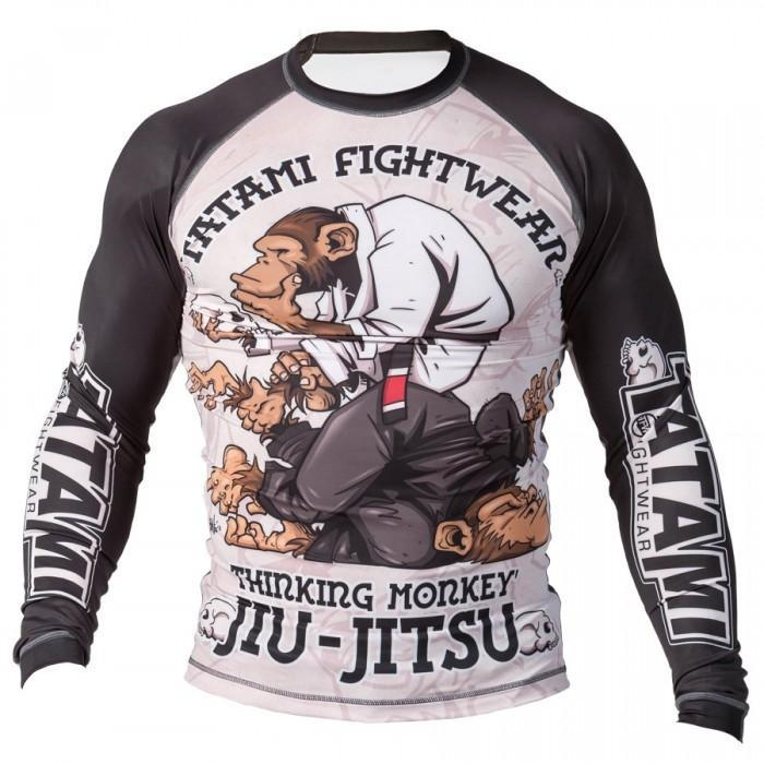 TATAMI RASHGUARD THINKER MONKEY L/S BLACK - MSM FIGHT SHOPTATAMI