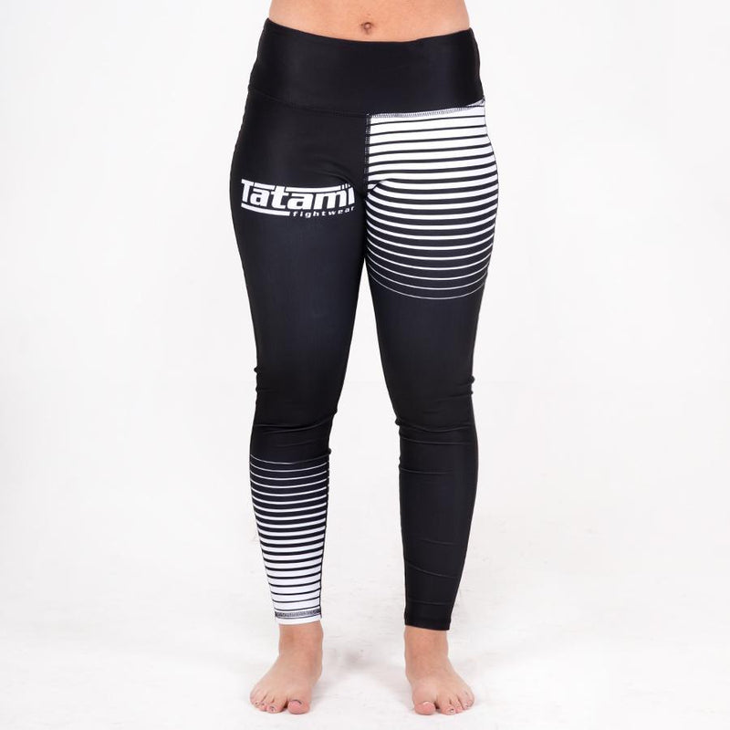 TATAMI SPATS LADIES GRADIENT LEGGINGS BLACK/WHITE - MSM FIGHT SHOPTATAMI