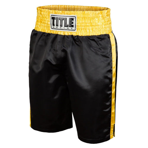 TITLE BOXING SHORTS EDGE BLACK/GOLD - MSM FIGHT SHOPTITLE BOXING