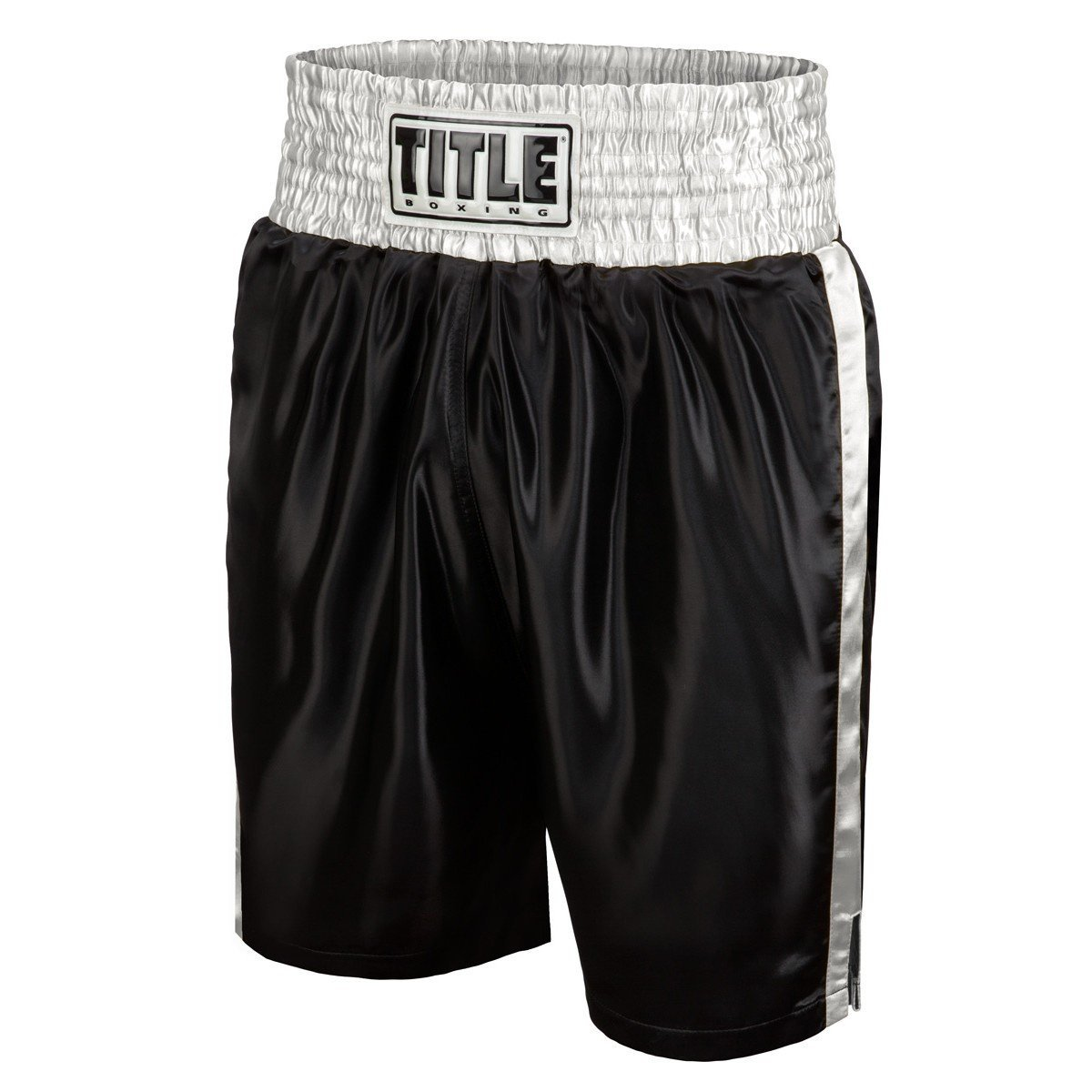 TITLE BOXING SHORTS EDGE BLACK/SILVER - MSM FIGHT SHOPTITLE BOXING