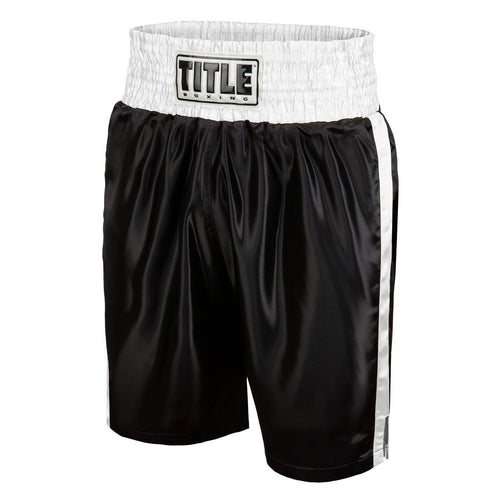 TITLE BOXING SHORTS EDGE BLACK/WHITE - MSM FIGHT SHOPTITLE BOXING
