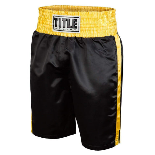 TITLE BOXING SHORTS EDGE YOUTH BLACK/GOLD - MSM FIGHT SHOPTITLE BOXING