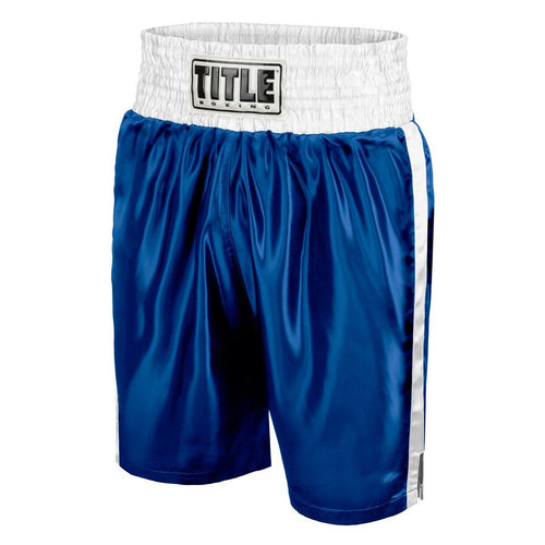 TITLE BOXING SHORTS YOUTH EDGE BLUE/WHITE - MSM FIGHT SHOPTITLE BOXING