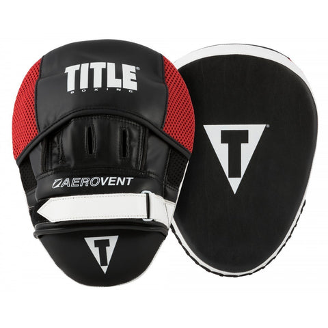 TITLE FOCUS MITTS AEROVENT EXCEL 2.0 BLACK/RED - MSM FIGHT SHOPTITLE BOXING
