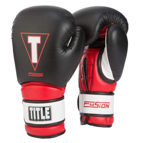 TITLE GLOVES FUSION TECH TRAINING BLACK/RED - MSM FIGHT SHOPTITLE BOXING