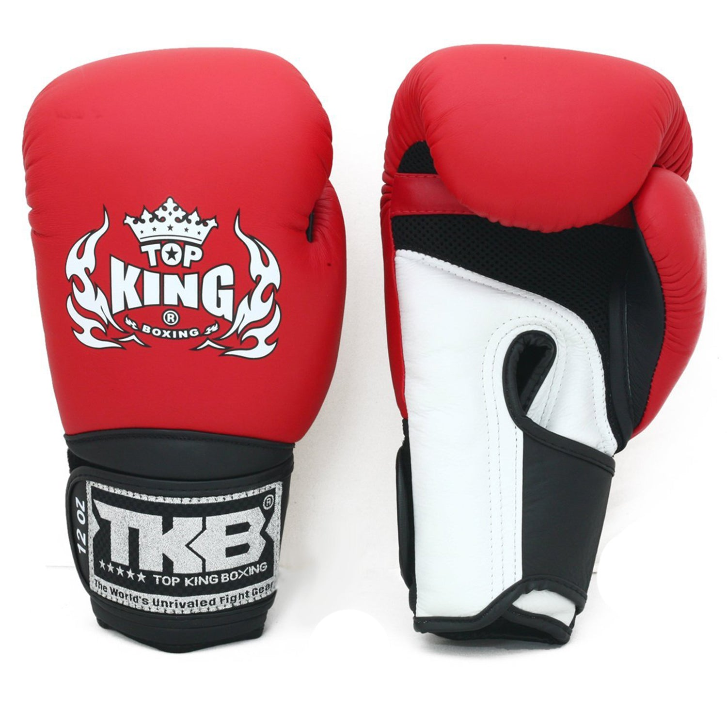 TOP KING GLOVES MUAY THAI AIR RED/WHITE - MSM FIGHT SHOP
