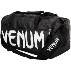 VENUM BAG SPARRING SPORTS DUFFLE BLACK/WHITE - MSM FIGHT SHOPVENUM