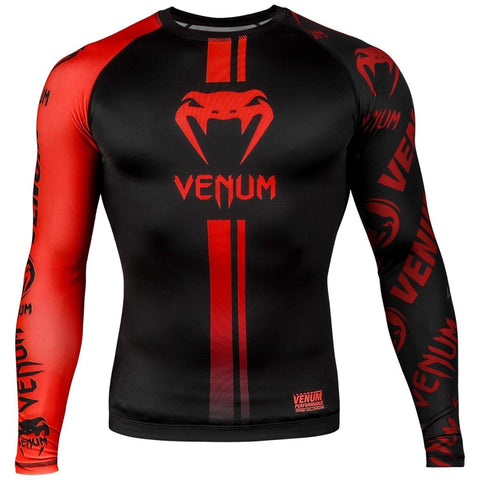 VENUM RASHGUARD LOGOS L/S BLACK/RED - MSM FIGHT SHOPVENUM