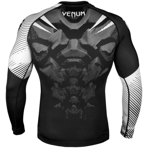 VENUM RASHGUARD NOGI 2.0 L/S BLACK/WHITE - MSM FIGHT SHOPVENUM