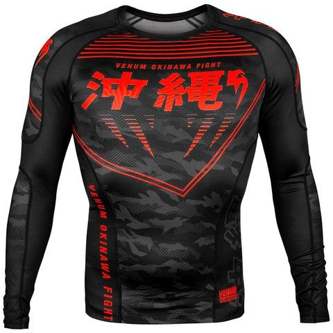VENUM RASHGUARD OKINAWA 2.0 BLACK/RED - MSM FIGHT SHOPVENUM