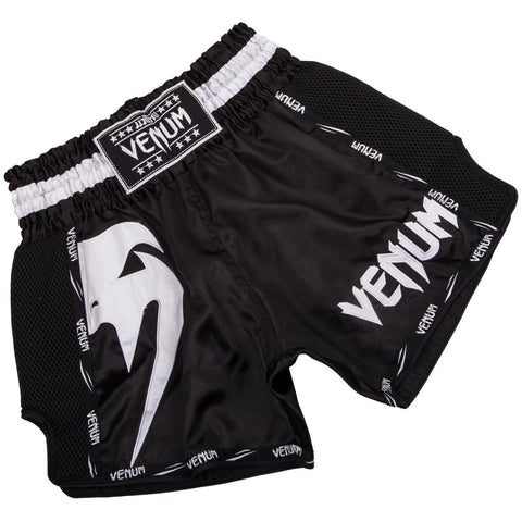VENUM THAI SHORTS GIANT BLACK/WHITE - MSM FIGHT SHOPVENUM
