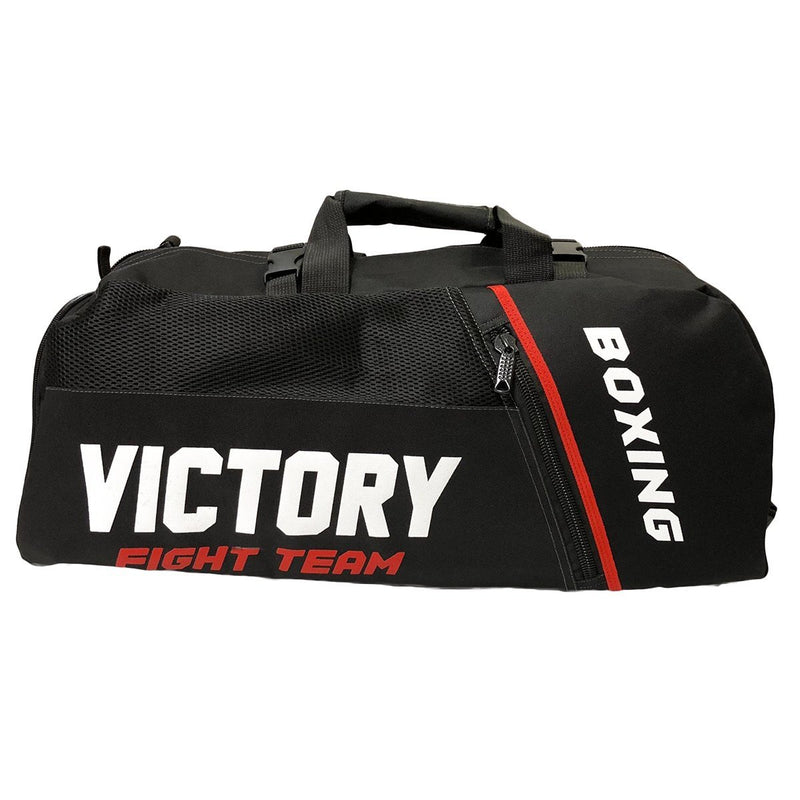 VICTORY BAG FIGHT TEAM CONVERTIBLE BACKPACK BLACK - MSM FIGHT SHOPVICTORY FIGHT GEAR