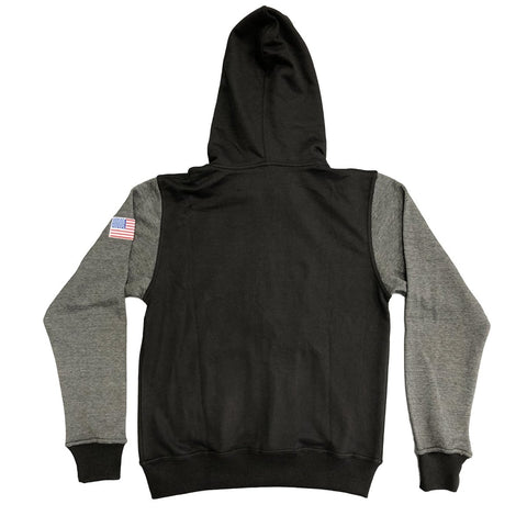 VICTORY BOXING HOODIE STENCIL BLACK/GREY - MSM FIGHT SHOPVICTORY FIGHT GEAR
