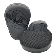 VICTORY FOCUS MITTS IMPACT SERIES SYNTEC STEALTH BLACK - MSM FIGHT SHOPVICTORY FIGHT GEAR