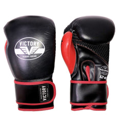 VICTORY GLOVES ATTACK SERIES SEMI LEATHER VELCRO BLK/RED - MSM FIGHT SHOPVICTORY FIGHT GEAR