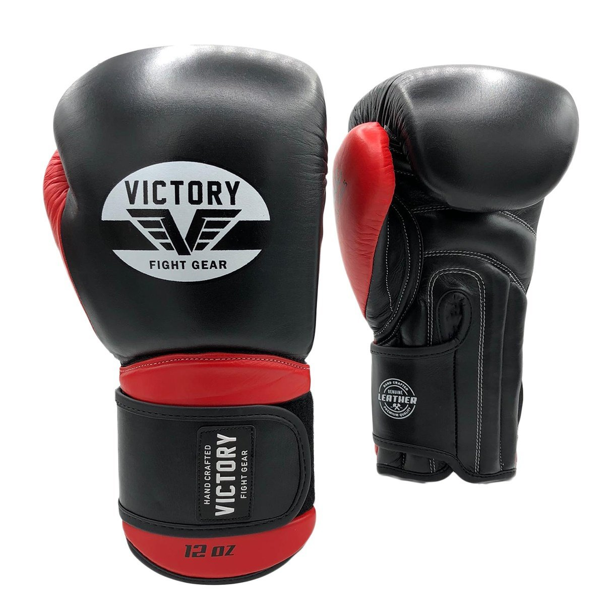 VICTORY GLOVES CLASSIC SERIES 2.0 LEATHER BLACK/RED - MSM FIGHT SHOPVICTORY FIGHT GEAR