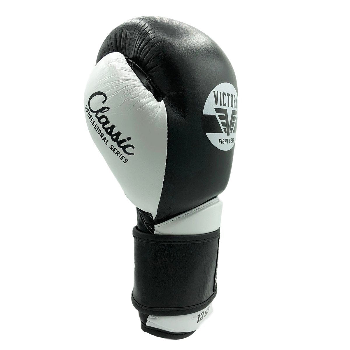 VICTORY GLOVES CLASSIC SERIES 2.0 LEATHER BLACK/WHITE - MSM FIGHT SHOPVICTORY FIGHT GEAR