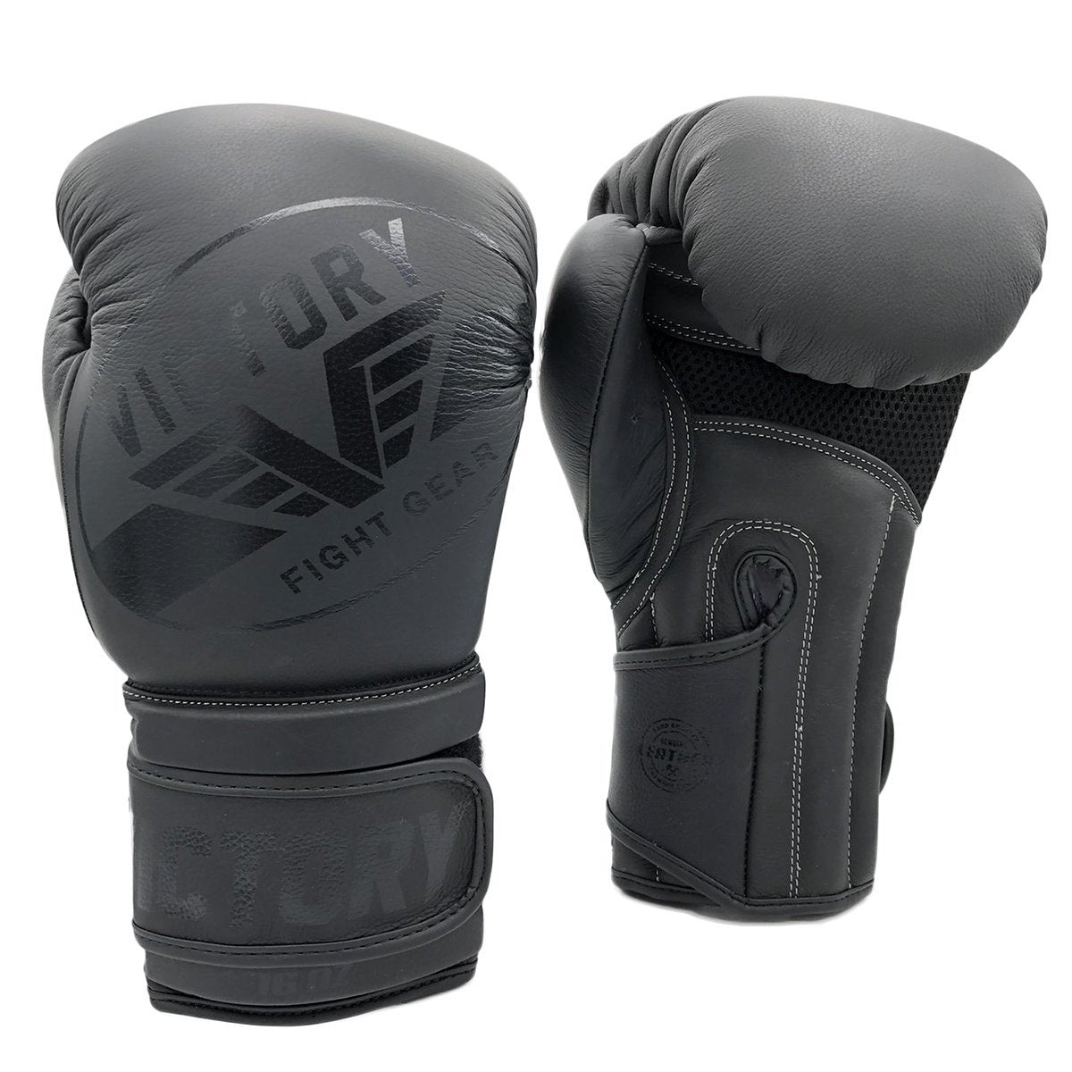 VICTORY GLOVES IMPACT PRO SERIES LEATHER BLACK - MSM FIGHT SHOPVICTORY FIGHT GEAR