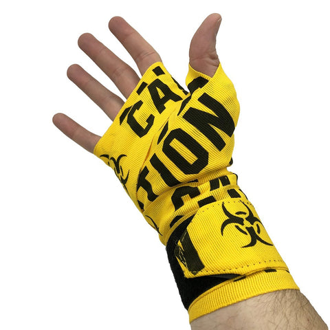"VICTORY HANDWRAPS CAUTION SEMI STRETCH 4.5 METER 180"" YELLOW - MSM FIGHT SHOPVICTORY FIGHT GEAR"