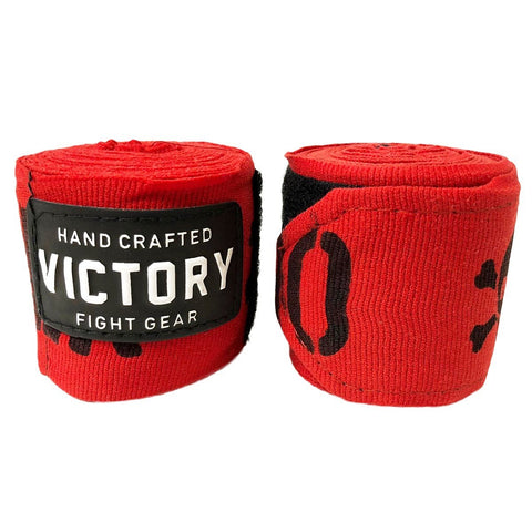 "VICTORY HANDWRAPS DANGER SEMI STRETCH 4.5 METER 180"" RED - MSM FIGHT SHOPVICTORY FIGHT GEAR"
