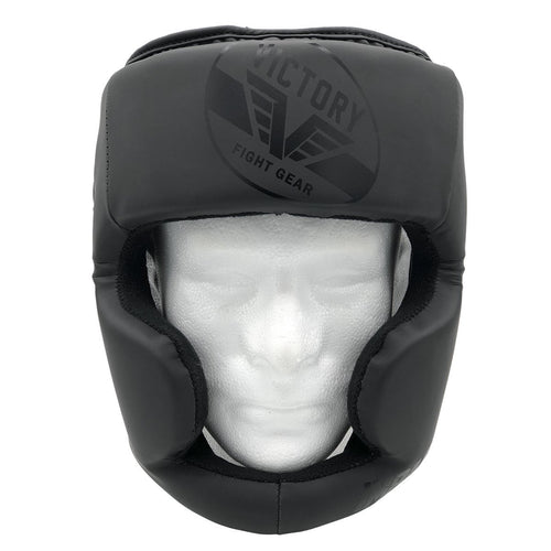 VICTORY HEADGEAR IMPACT SERIES FULL FACE STEALTH BLACK/BLACK - MSM FIGHT SHOPVICTORY FIGHT GEAR