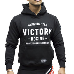 VICTORY HOODIE HAND CRAFTED L/S BLACK/WHITE - MSM FIGHT SHOPVICTORY FIGHT GEAR