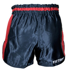 VICTORY MUAY THAI SHORTS LOW WAIST MUAY THAI BLACK / RED - MSM FIGHT SHOPVICTORY FIGHT GEAR