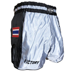 VICTORY MUAY THAI SHORTS LOW WAIST MUAY THAI GREY /BLACK - MSM FIGHT SHOPVICTORY FIGHT GEAR