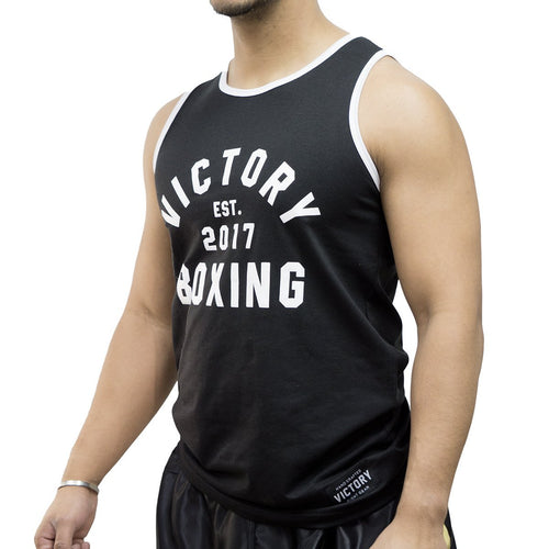 VICTORY TANK BOXING '17 BLACK/WHITE - MSM FIGHT SHOPVICTORY FIGHT GEAR