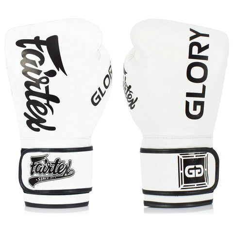 FAIRTEX GLOVES GLORY VELCRO BGVG1 - WHITE/BLACK