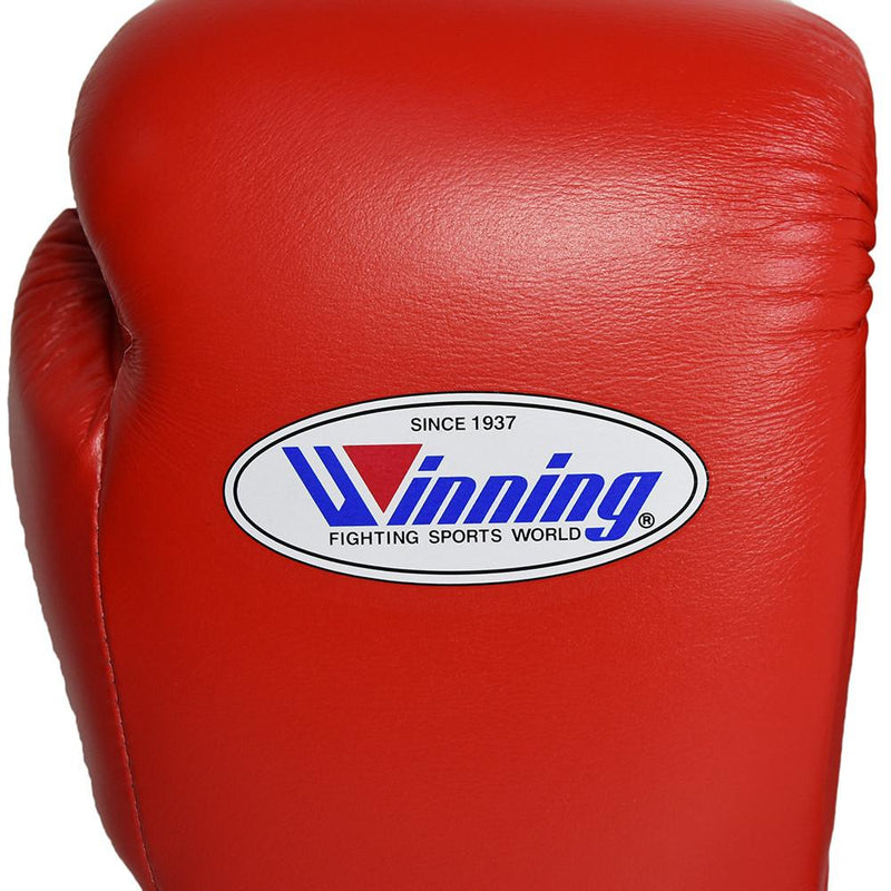 WINNING GLOVES LACE BOXING RED - MSM FIGHT SHOPWINNING