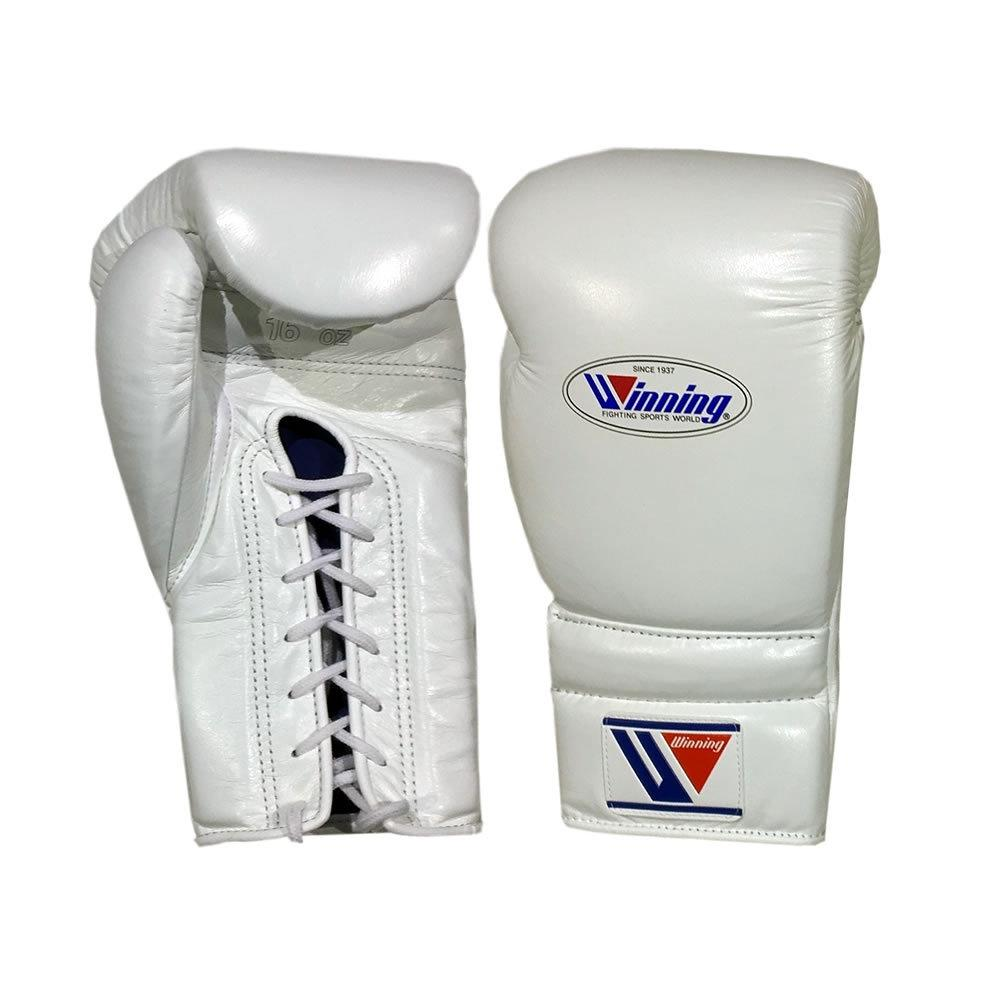WINNING GLOVES LACE BOXING WHITE - MSM FIGHT SHOPWINNING