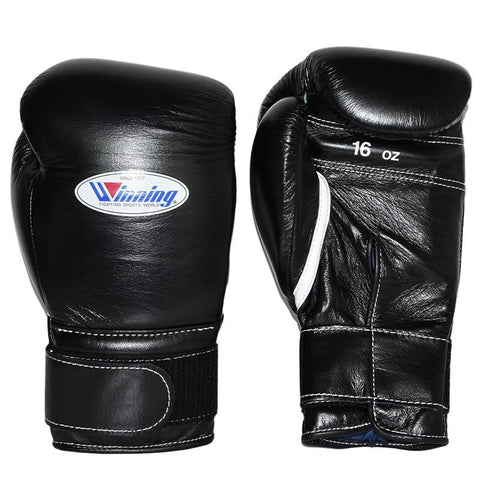 WINNING GLOVES VELCRO BOXING BLACK - MSM FIGHT SHOPWINNING