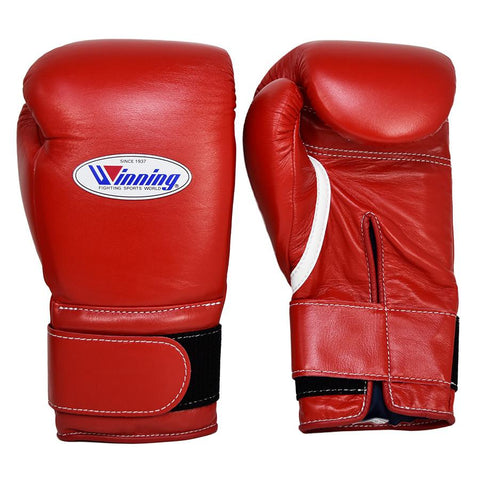 WINNING GLOVES VELCRO BOXING RED - MSM FIGHT SHOPWINNING