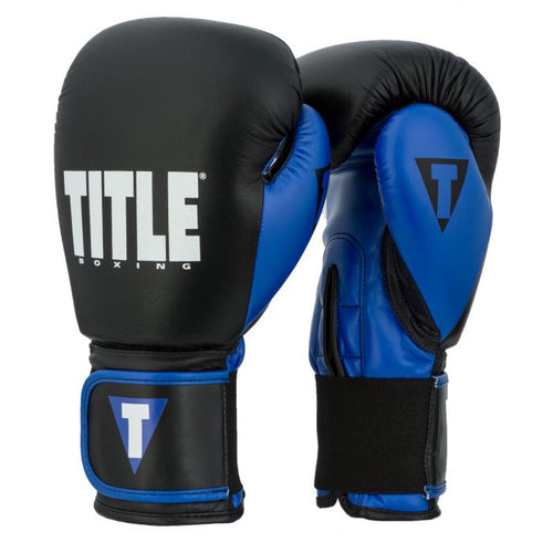 TITLE GLOVES DYNAMIC STRIKE HEAVY BLACK/BLUE - MSM FIGHT SHOP