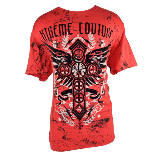 XTREME COUTURE SHIRT CROSS GLORY 3 RED/BLACK XL - MSM FIGHT SHOPXTREME COUTURE