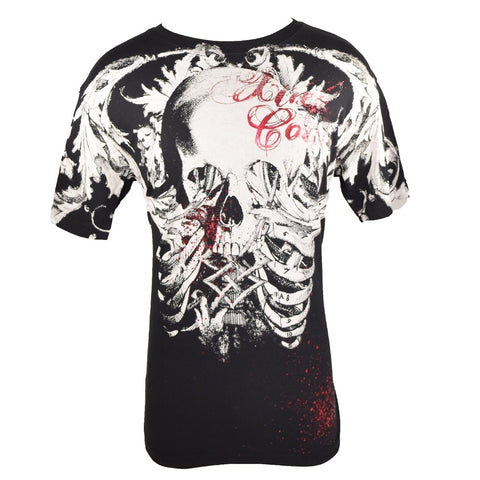XTREME COUTURE SHIRT SKULL AND BONES 11 BLACK/WHITE/RED LARGE - MSM FIGHT SHOPXTREME COUTURE