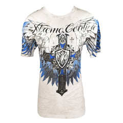 XTREME COUTURE SHIRT SPREAD WINGS 10 WHITE/BLUE/BLACK - MSM FIGHT SHOPXTREME COUTURE