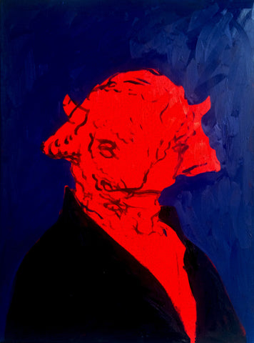 "Abstract Fritz Scholder Bison 40""x 30"""