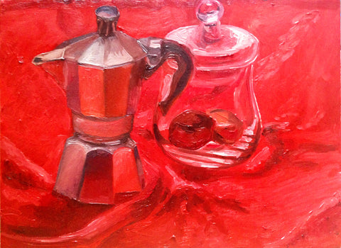 "Coffee and Chocolate 9"" x 12"""