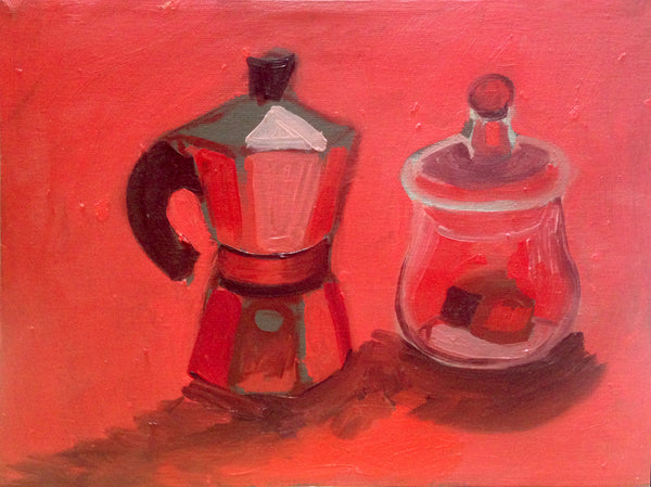 "Coffee and Chocolate Study 9"" x 12"""